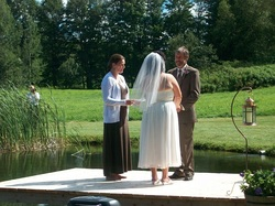 Wedding Ceremony in Northeast Kingdom Vermont